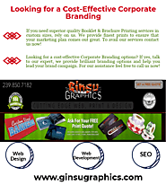 Looking for a Cost-Effective Corporate Branding