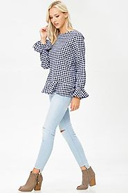 A gingham print top
