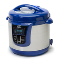 MaxiMatic EPC-808BL Elite Platinum Digital Stainless Steel Pressure Cooker with 13 Functions, 8-Quart, Blue