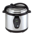 Nesco PC6-25P 6-Quart Electric Programmable Pressure Cooker, Stainless Steel