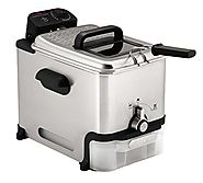 T-fal FR8000 Oil Filtration Ultimate EZ Clean Easy to clean 2.6-Pound / 3.5-Liter Fry Basket Stainless Steel Immersio...