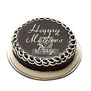 Send Mom Day Chocolate cake Half kg Online Same Day Delivery - OyeGifts.com
