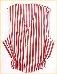 Red White Striped Vest Barbershop Quartet Singers Stage Adult Costume Accessory