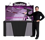 Showmax Self-Packing Tabletop Display from Trade Show Display Pros