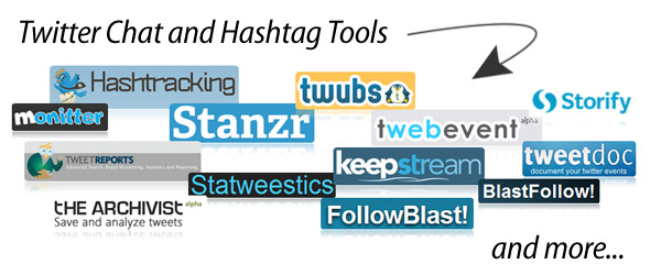 Headline for Twitter Chat and Hashtag Tools