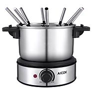 Aicok Electric Fondue Set and Melting Pot