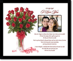 I Love You Gift for Wife - Romantic Anniversary or Valentines Day Gift from Husband - Add Photo