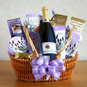 Relax and Unwind Lavender Spa Spritzer Gift Basket for Her | Valentines Day Gift Idea