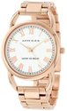 Anne Klein Women's AK/1178WTRG Rose Gold-Tone Open Bangle Bracelet Watch