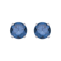 1/2 ct. Blue - I1 Round Brilliant Cut Diamond Earring Studs in 14K White Gold