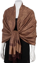 "Amazon.com: Sakkas 70"" x 28"" Paisley Self-Design Shawl / Wrap / Stole - Chocolate/ Brown paisley: Clothing"