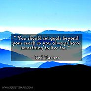 You should set goals beyond your reach so you always have something to live for. - Ted Turner