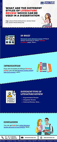 What are the different styles of literature review which can be used in a dissertation?