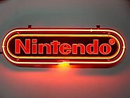 Nintendo Game Room Beer Light Lamp Bar Decor