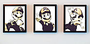 Super Mario Collection digital prints