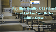 Get In Touch With Your Business Professionals With Our k-12 School Email List – School Data Lists