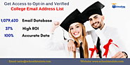 Enhance Your Prospects By Using College Email Address List From School Data Lists – School Data Lists
