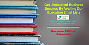 Kickstart Your Successful Marketing Campaign with Education Email Lists to Attract the Targeted audience – School Dat...