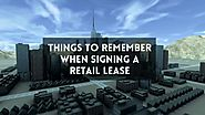 Important points to consider when signing retail lease