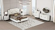 Everett Bedroom Collection with Chrome Accents