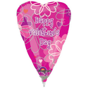 Valentine's Day Flower Pattern Mini Shape Foil Balloon (1 per package)