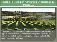 Steps To Precision Agriculture By Benedict T. Palen, Jr.