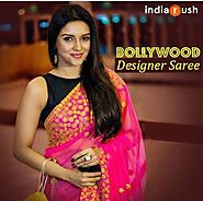 Latest Bollywood Designer Collection : Asin Pink and Black Georgette S – Mahi Fashion