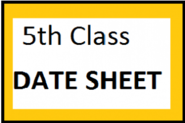 BISE 5th Class Date Sheet