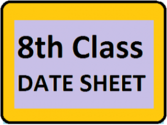 BISE 8th Date Sheet