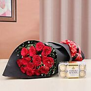 Send Roses and Chocolates Same Day Delivery - OyeGifts