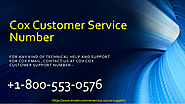 Dial Cox Customer support Phone Number +1-800-553-0576