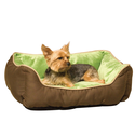 Amazon.com: K&H Lounge Sleeper Self-warming Pet Bed, 16-Inch by 20-Inch, Mocha/Green: Pet Supplies
