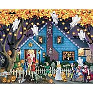 Ghostly Gathering Halloween Jigsaw Puzzle - Puzzle Haven