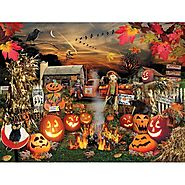 White Mountain Puzzles Jack O Lanterns Jigsaw Puzzle - Puzzle Haven