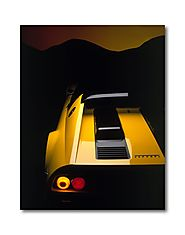 Buy Yellow Ferrari Boxer Car Poster and Canvas Print Online