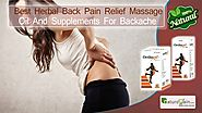 Best Herbal Back Pain Relief Massage Oil and Supplements for Backache