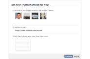 Trusted Contacts: Freunde schützen Facebook-Konto