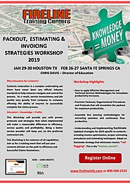 Packout , Estimating & Invoicing Stratergies Workshop 2019