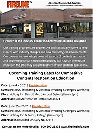 Upcoming Training Events for Content Restoration Education
