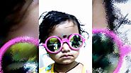 cute baby girl khushi playing with glasses video