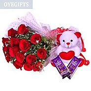 Buy/Send Cute, Red & Chocolaty Online Same Day Delivery - OyeGifts.com