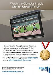Experience the Olympics in style with an Ultralift TV Lift