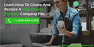 Learn How To Create And Restore A QuickBooks Portable Company File