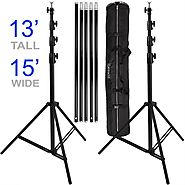 Ravelli ABSL Photo Video Backdrop Stand Kit 13' Tall x 15' Wide with Dual Air Cushion Stands and Bag : P...