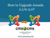 How to Upgrade Joomla 2.5 to 3.0