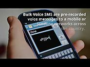 Benefits using voice sms services