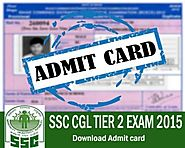 SSC CGL TIER 2 Admit Card - Download Now