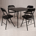 4 Padded Card Table Folding Chairs | eBay
