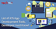 List of iOS App Development Tools, Developer must Know | TechTIQ solutions