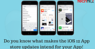 Do you know what makes the iOS 12 App store updates intend for your App! - TechTIQ Solutions | A Mobile App Developme...